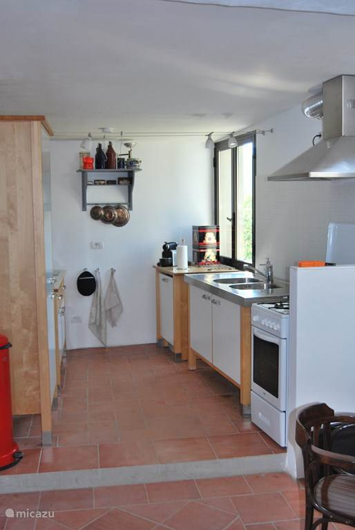 De keuken op de bovenverdieping