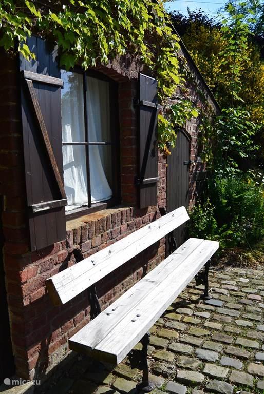 bench at the front door