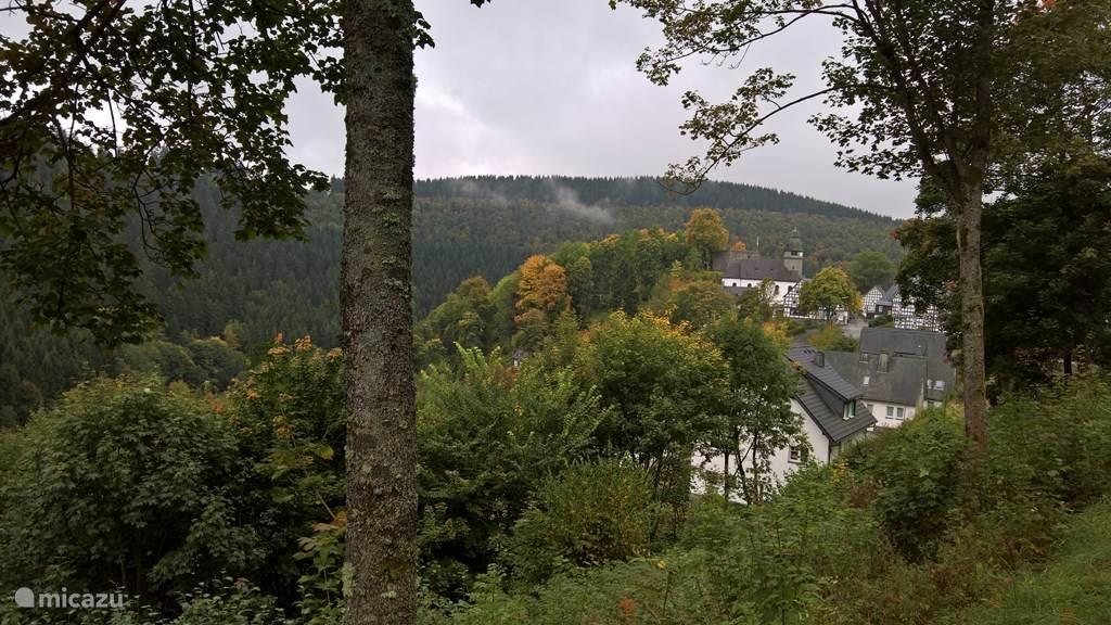 Uitzicht richting het dorp