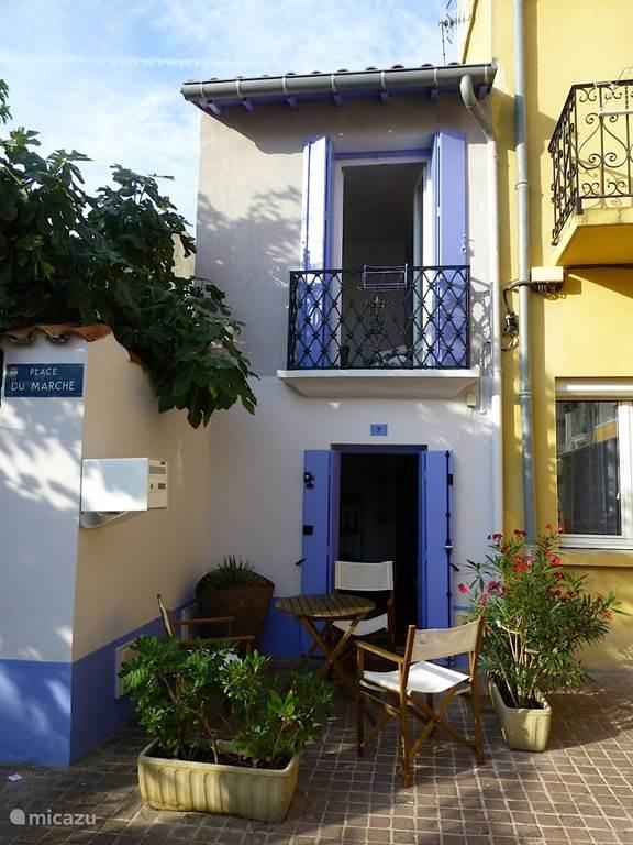 Vakantiehuis Frankrijk, Hérault, Palavas-les-Flots Vakantiehuis Cosy vissershuisje op dorpsplein