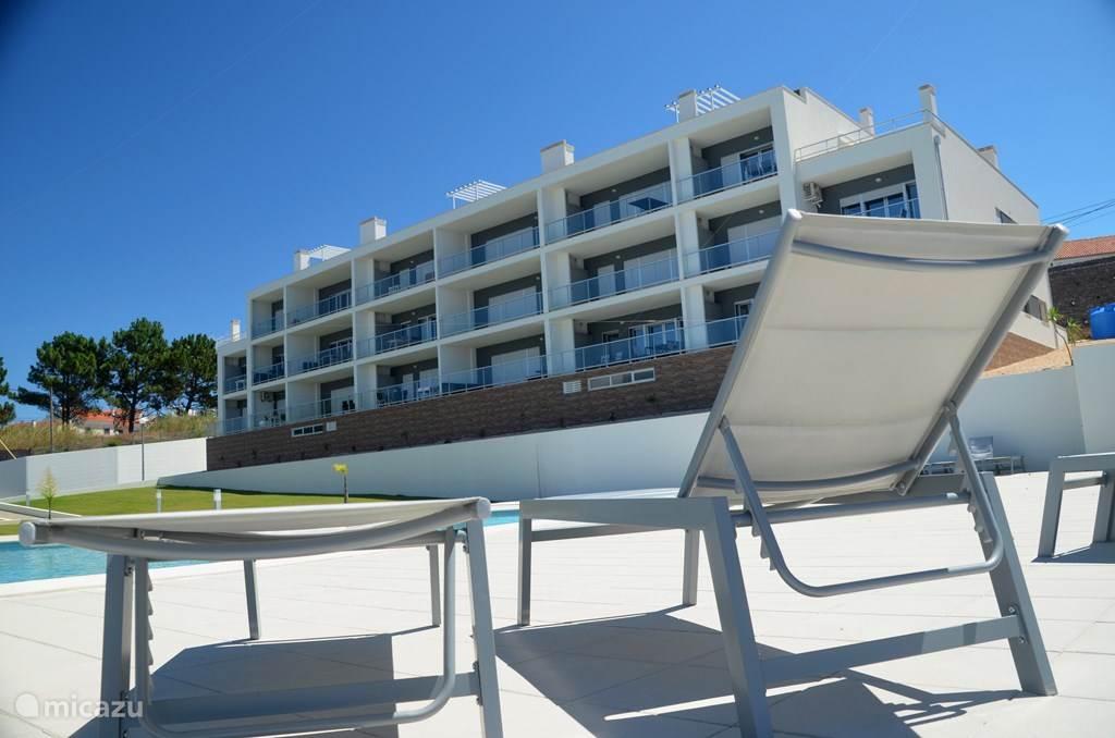 Vakantiehuis Portugal, Costa de Prata, Nazaré appartement Condomínio Muralha (deur Z)