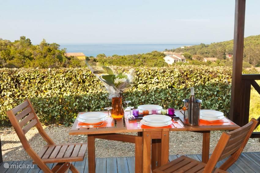 Vakantiehuis Frankrijk, Corsica, Sainte-Lucie-de-Porto-Vecchio Chalet Chalet Moia Vista Zuid Corsica