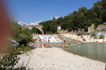 waterval bij Entrechaux