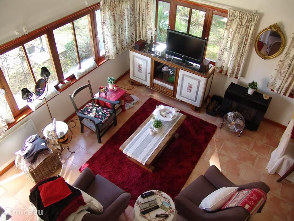 woonkamer van boven gezien