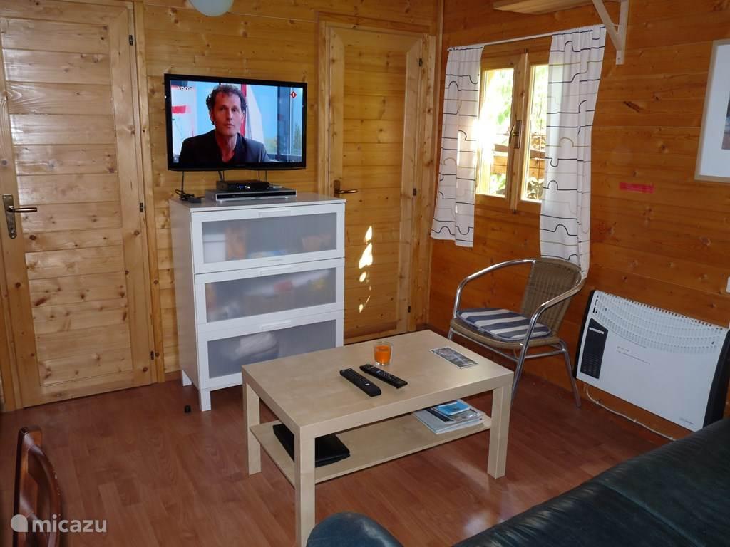 De kamer met grote TV