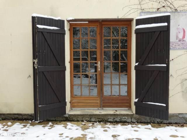 de deuren naar de tuin