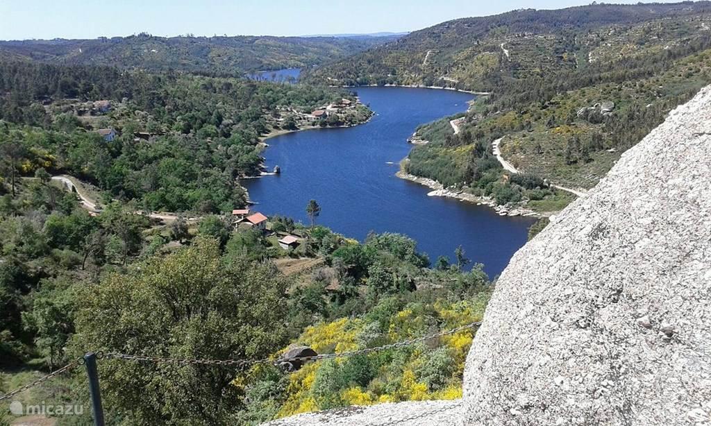 Rio Mondego komt langs Povoa de Midoes