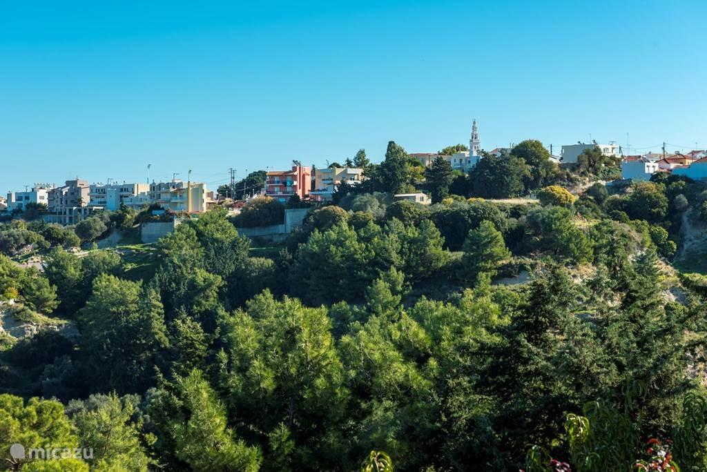 Uitzicht naar dorp Koskinou.