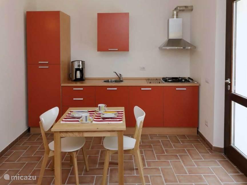 Keuken appartement Rosso
