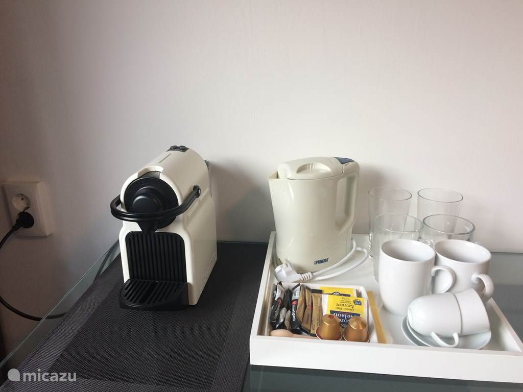 op de kamer kunt u koffie en thee zetten