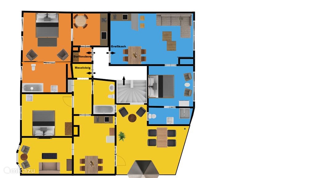 Moselsteig plattegrond (geel)