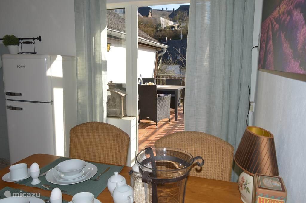zicht op balkon