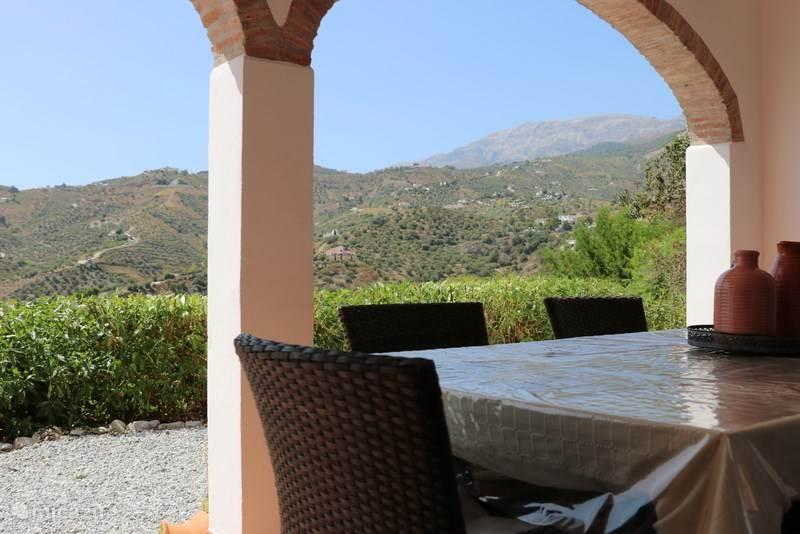 Panoramisch zicht op de Maroma berg.