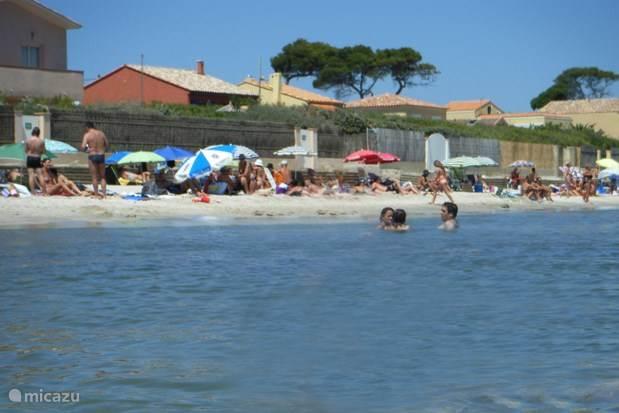 Het kindvriendelijke strand in la Capte