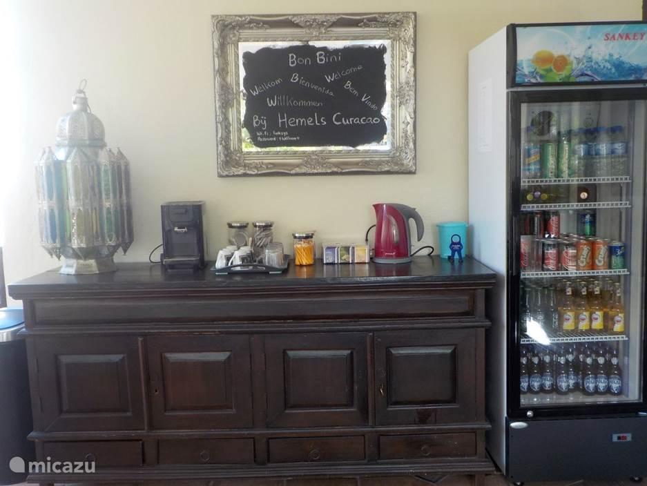 Koffie en thee voorziening en Honesty bar