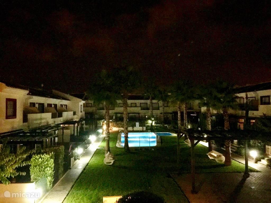 Lagunas del Sol in de avond (vanaf het balkon)