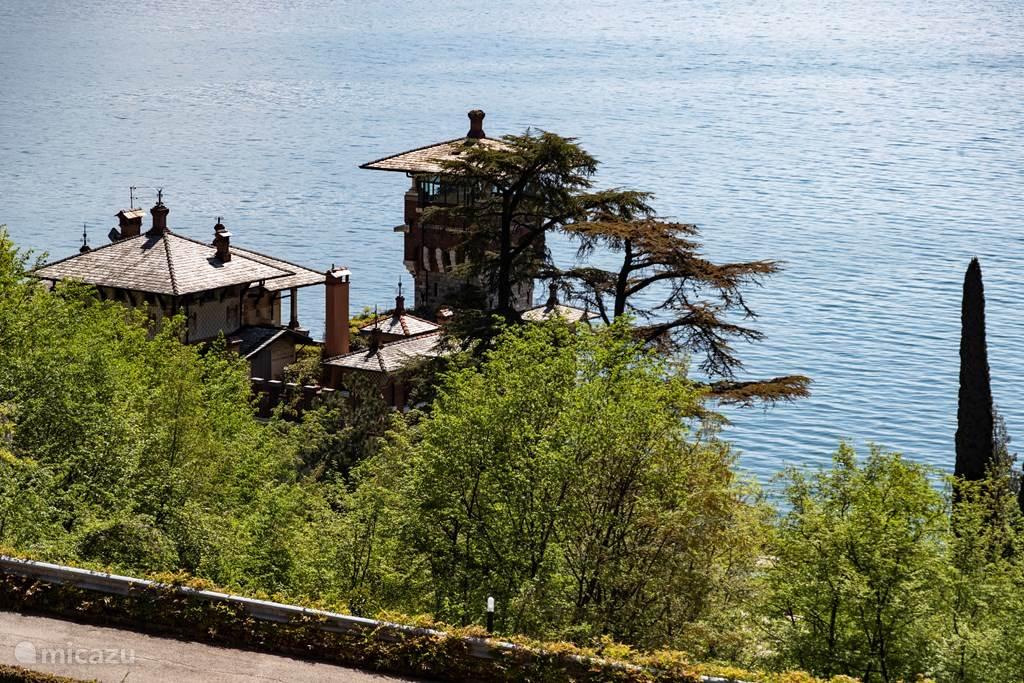 Het zicht op de beroemde Villa La Gaeta.