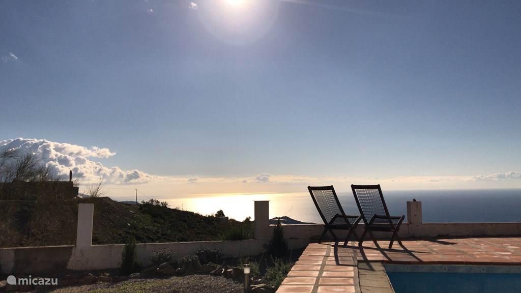 Uitzicht op de Middellandse zee vanaf eigen terras
