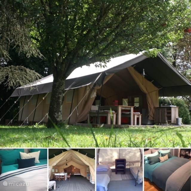 glamping safarizelt yurt safari zelt carignan in meze languedoc roussillon frankreich. Black Bedroom Furniture Sets. Home Design Ideas