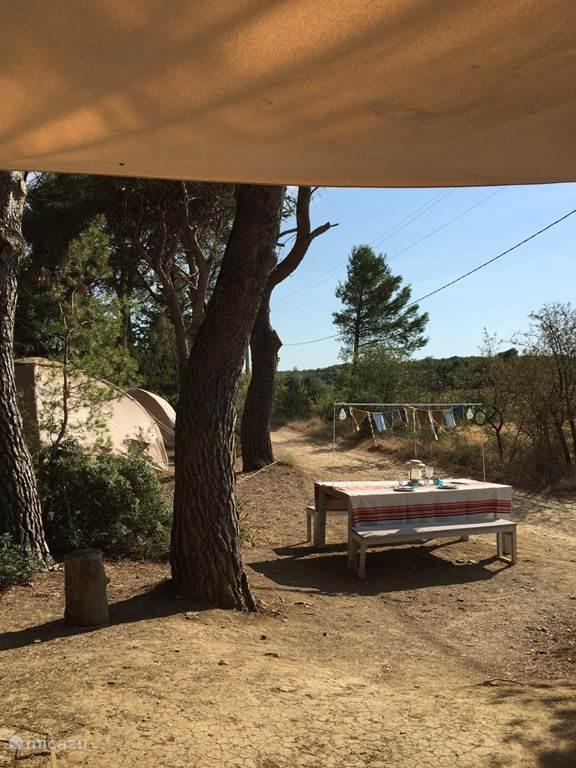 glamping safarizelt yurt karsten zelt grenache in meze languedoc roussillon frankreich. Black Bedroom Furniture Sets. Home Design Ideas