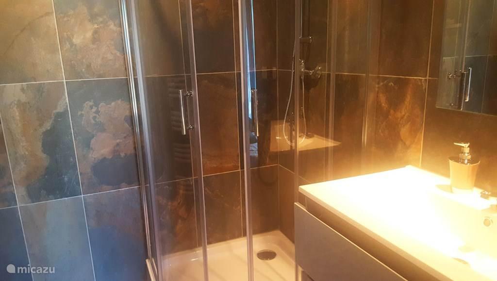 Badkamer met inloopdouche en wc