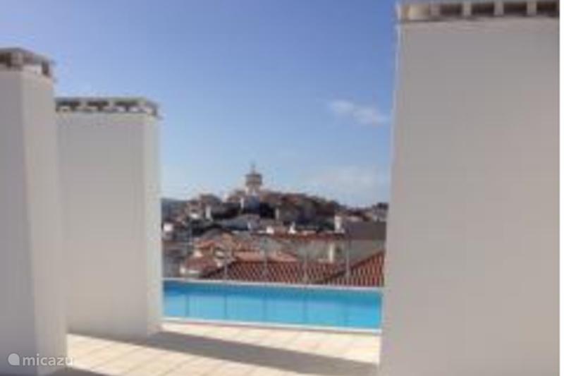 Vakantiehuis Portugal, Costa de Prata, São Martinho do Porto Appartement Mooi hoekappartment met groot terras