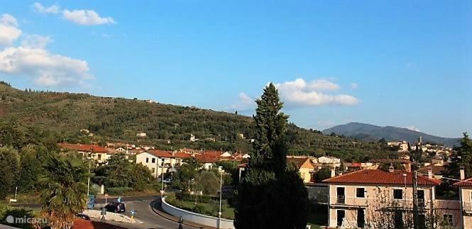 Het uitzicht op de typisch Toscaanse heuvels