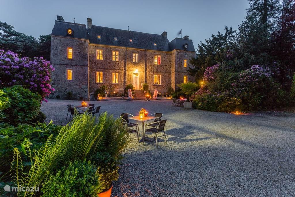 Vakantiehuis Frankrijk, Normandië, Brix landhuis / kasteel Salon met tuinkamer & buitenkeuken