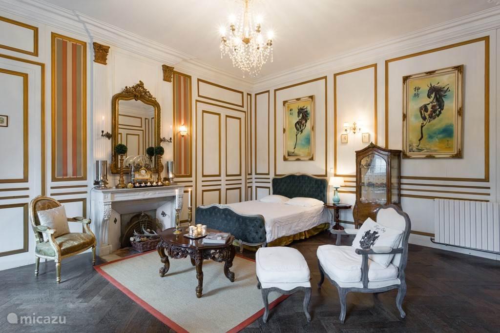 Vakantiehuis Frankrijk, Manche, Brix Landhuis / Kasteel Salon met tuinkamer & buitenkeuken