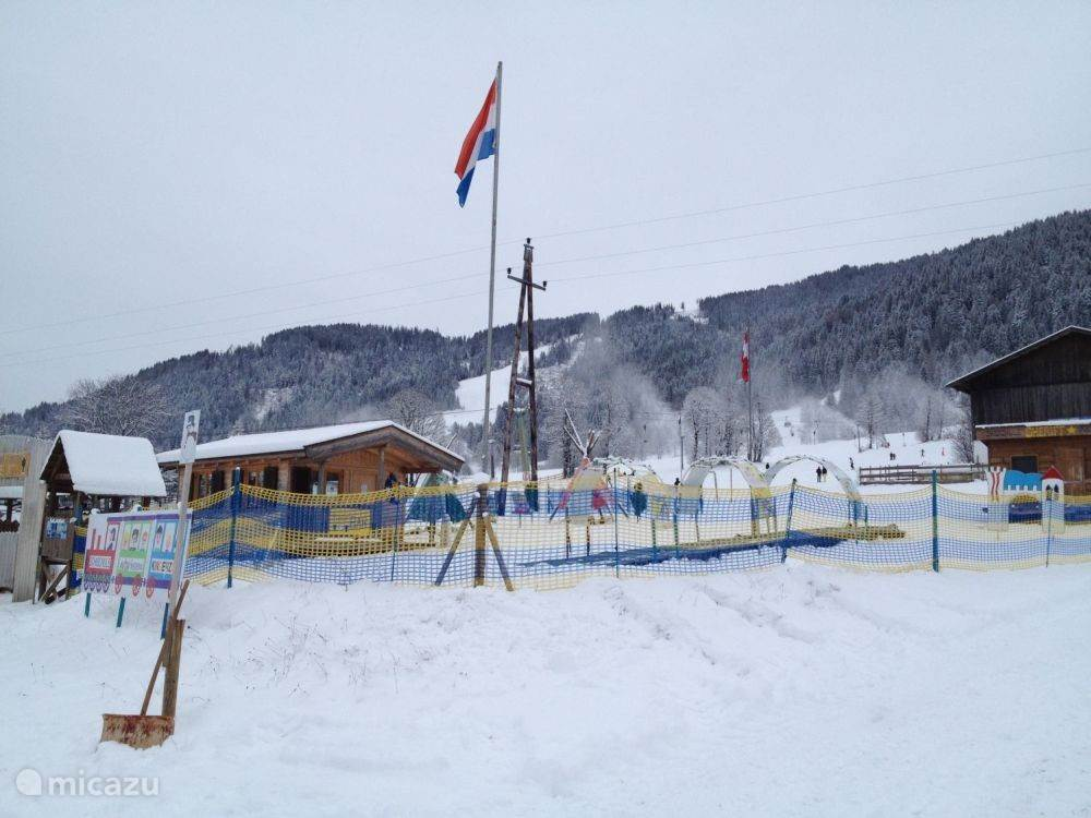Children's area of ??the Blue Ski School.