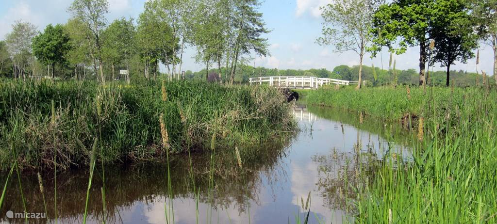 Het riviertje De Reest, de grens tussen Overijssel en Drenthe