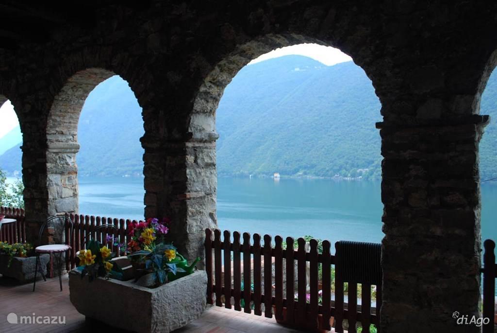 Gandira aan het Luganomeer.