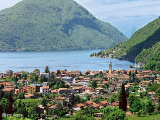 Uitzicht meer van Lugano