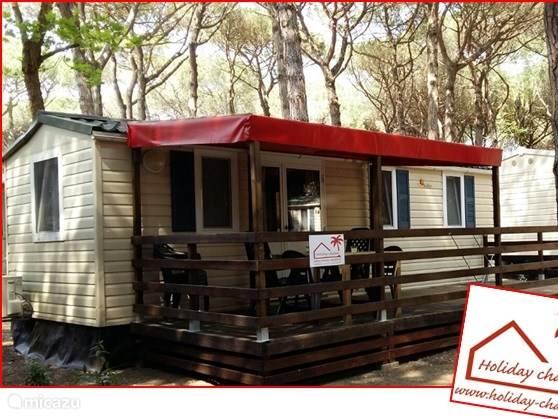Ferienwohnung Italien, Emilia-Romagna, Lido di Spina wohnwagen Chalet Lido di Spina auf dem Campingplatz