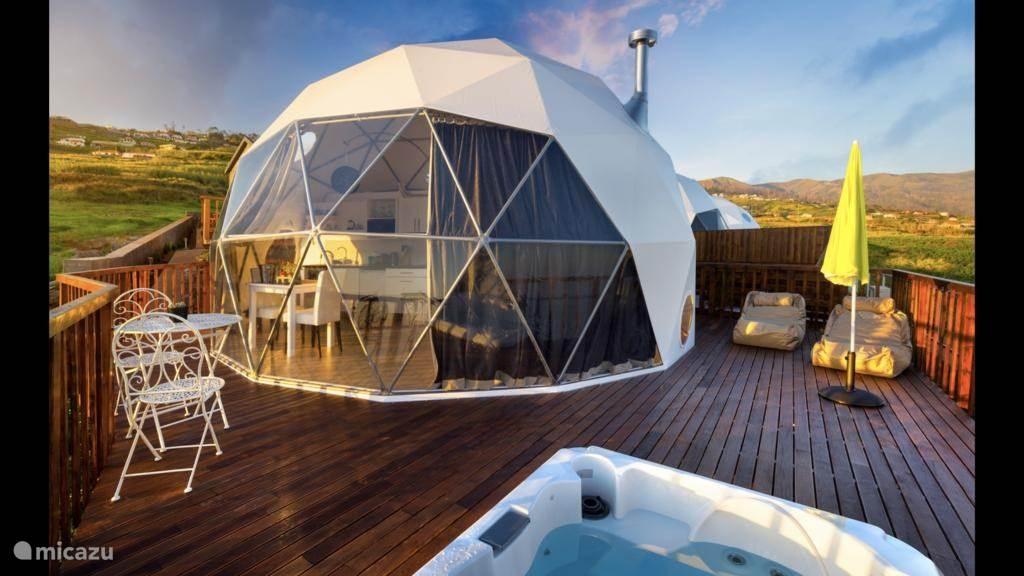 Zwemmen, Portugal, Madeira, Prazeres, glamping / safaritent / yurt Soul Glamping
