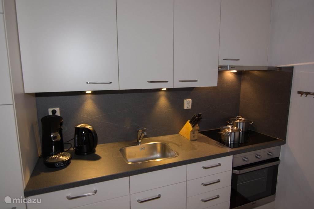 Moderne keuken met vaatwasser