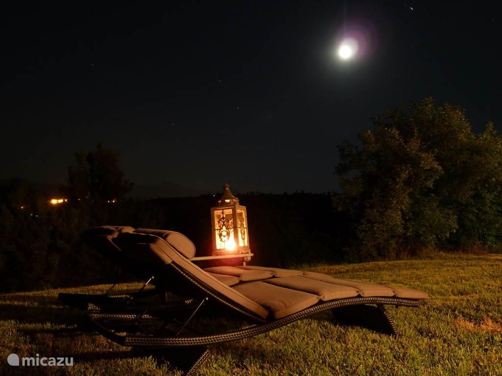 heerlijk genieten van de volle maan