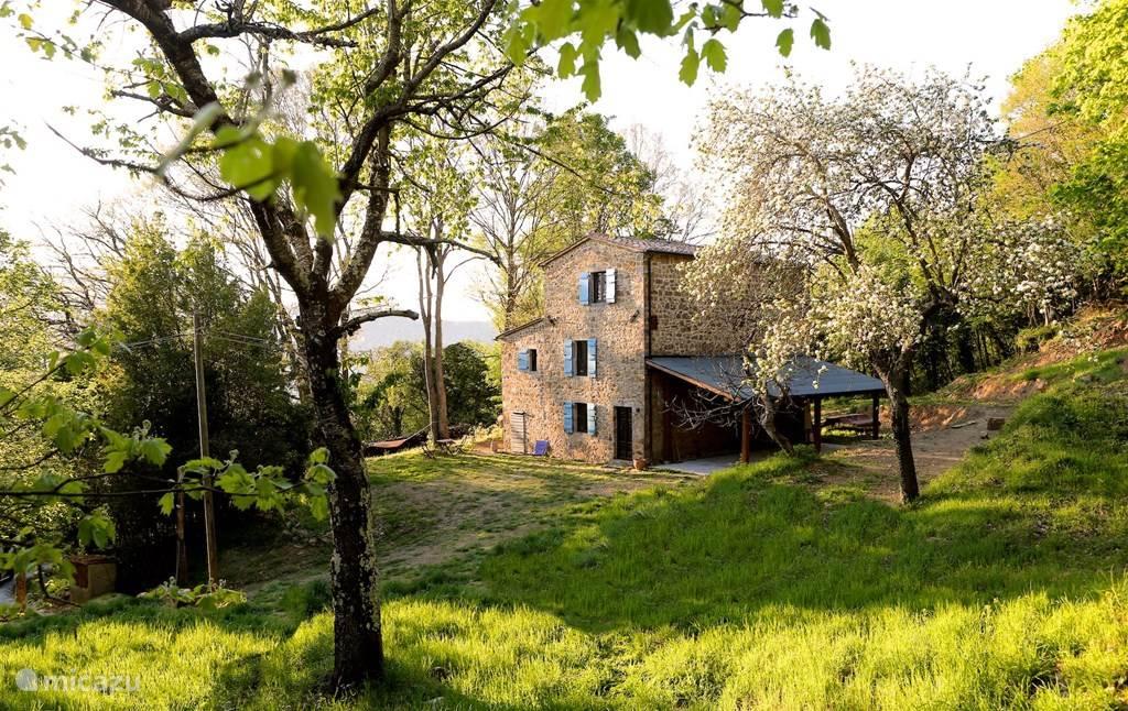 New vacation rental Italy, Tuscany, Santa Fiora – holiday house Casa Fior di Rosa