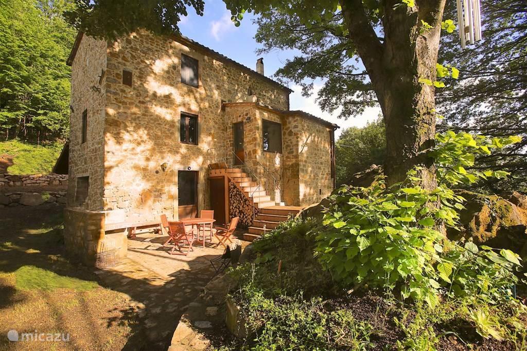 Vakantiehuis Italië, Toscane, Santa Fiora Vakantiehuis Casa Fior di Rosa