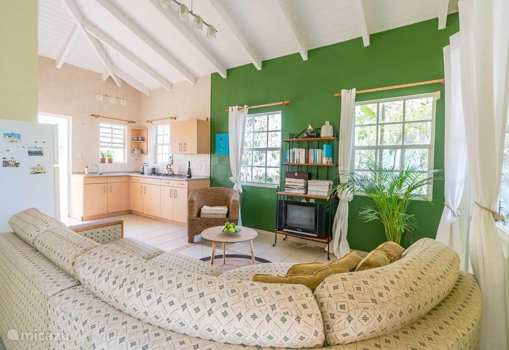 Living room plus open kitchen