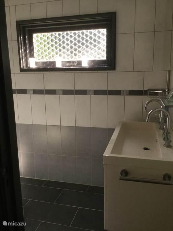 Badkamer meubel met twee mengkranen spiegel