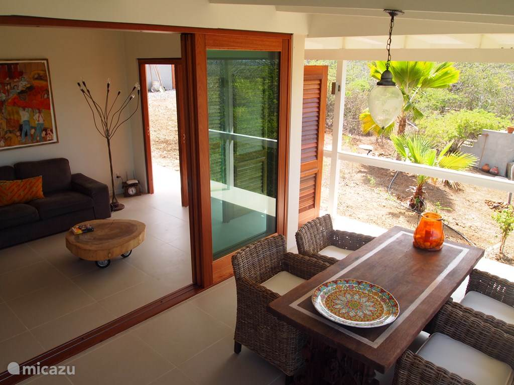 Terrace with sliding doors to the living room.