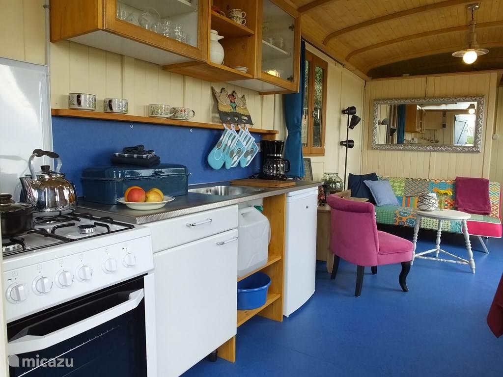 Vakantiehuis Frankrijk, Limousin, Nouhant Chalet Pipowagen 'Roulotte'