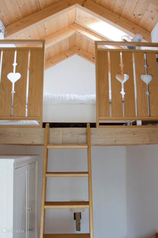 3rd Bedroom is in the loft as a loft bed.