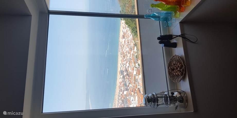 Uitzicht vanaf de eetkamertafel