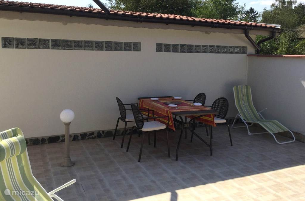 Terrace with design furniture