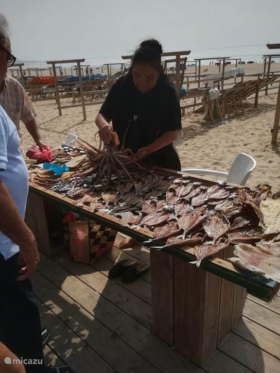 Nazare :verkoop van gedroogde vis