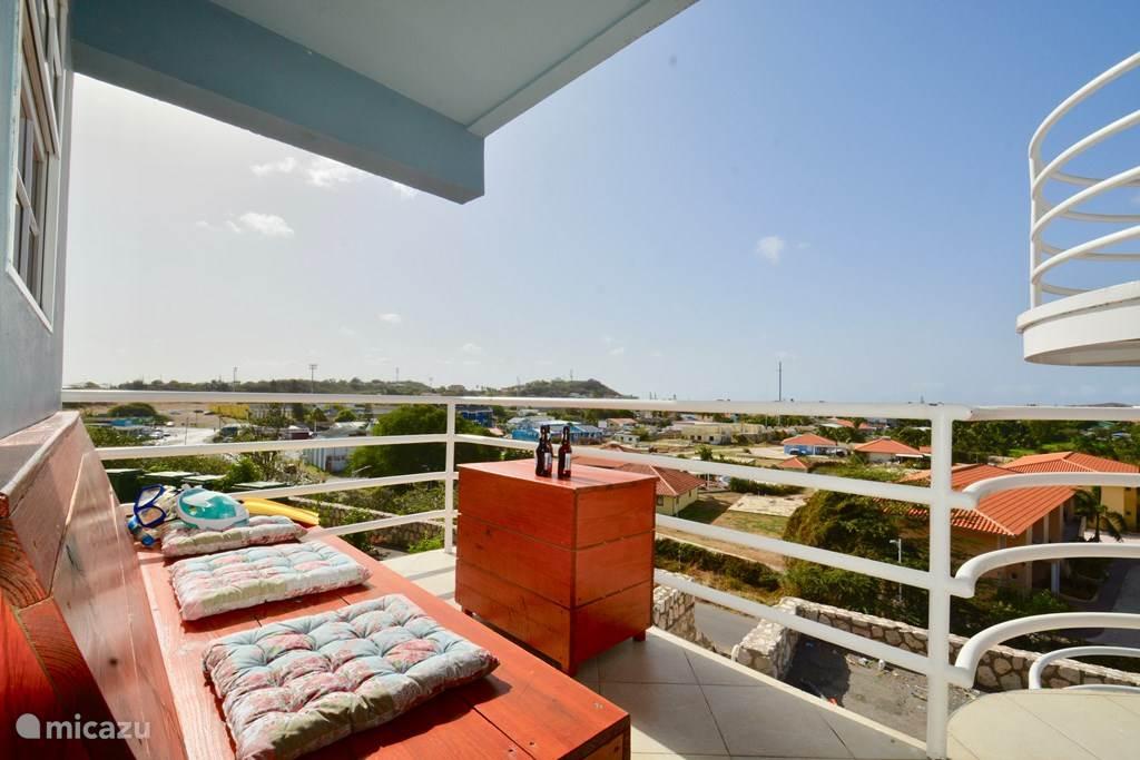 Uitzicht vanaf balkon of terras!