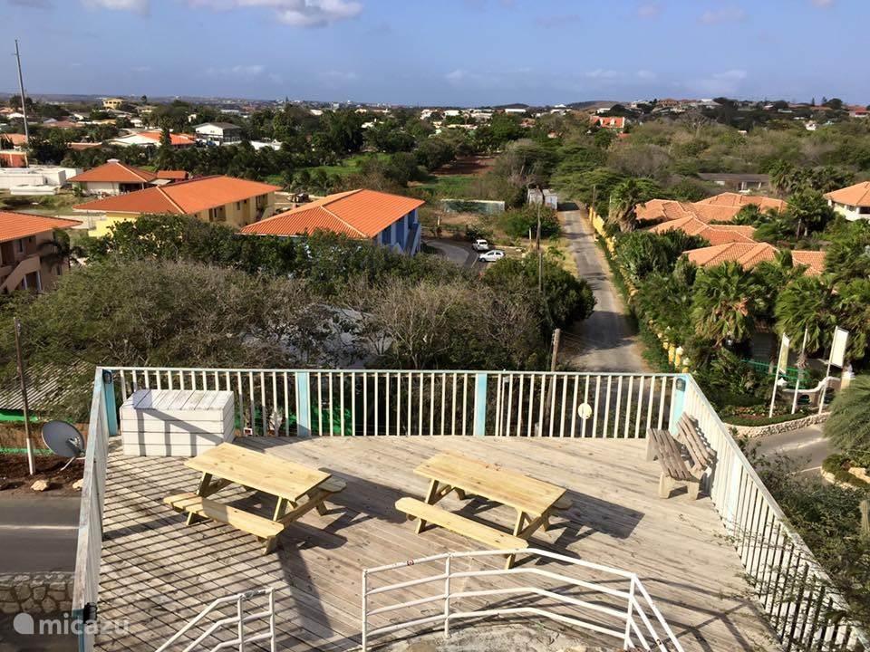 Picknick tafels met super uitzicht tussen het zwembad en de BBQ-plaats!