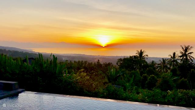ondergaande zon, beste uitzicht vanaf de Villa1